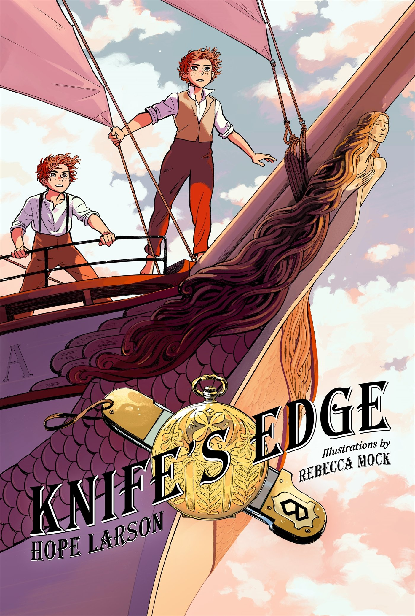 Knife's Edge: A Graphic Novel (Four Points, Book 2) (Four Points, 2): Larson,  Hope, Mock, Rebecca: 9780374300449: Amazon.com: Books