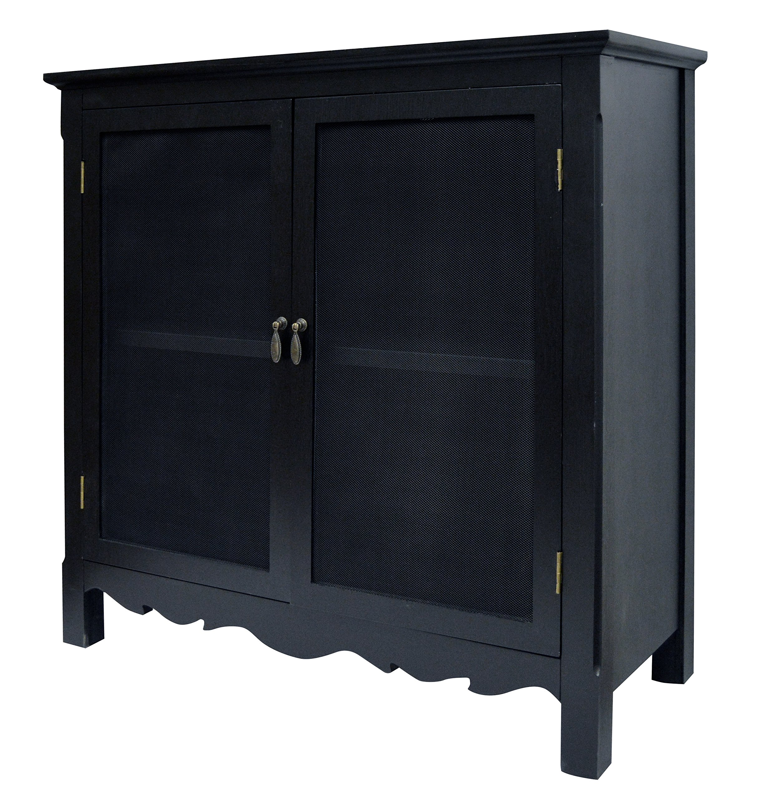 BLACK CHARLESTON CABINET by Haven Home Décor (Image #1)