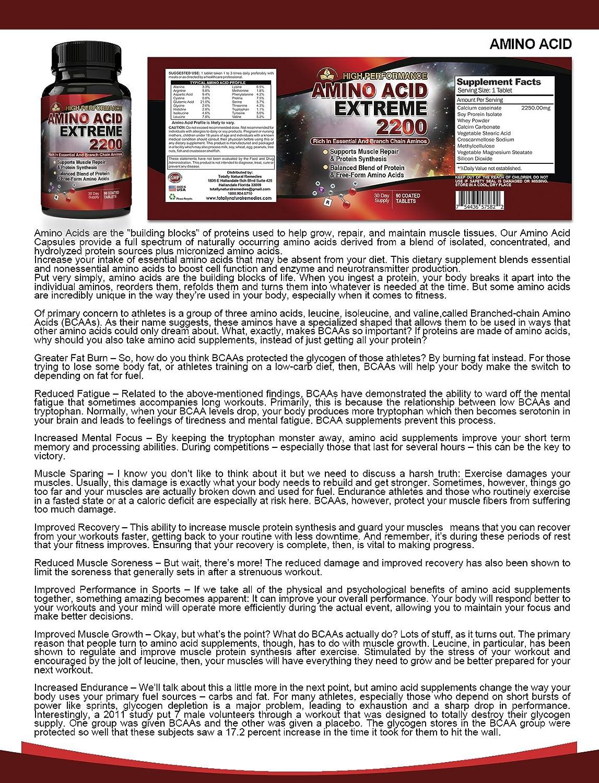 Amazon.com: BCAA aminoácidos Extreme 2200 MG – Alto ...