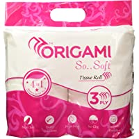 Origami So..Soft Tissues Roll,3ply - 4 in 1