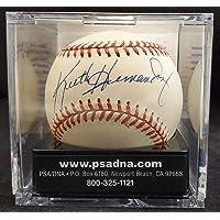 $101 » Keith Hernandez Autographed Official NL Baseball Mets, St. Louis Cardinals Auto Grade 8 PSA/DNA #E43068 - Autographed Baseballs
