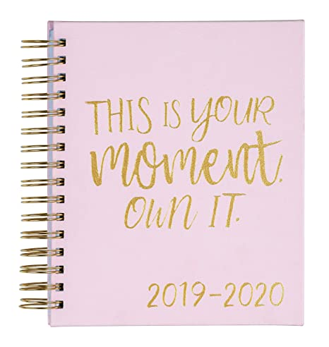 "2019-2020 Eccolo Spiral Agenda Planner, Blush ""This is Your Moment"" Hardcover, Weekly & Monthly Views, 18 Months, Sticker Sheets, Full Color Graphics ..."