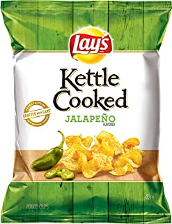 product image for Lay's Kettle Cooked Jalapeno Flavored Potato Chips, 0.85 Ounce (Pack of 40)