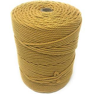 51619b1eba3b macramé hilo macramé algodón hilo Manualidades Beige 200 metros 4 mm ...