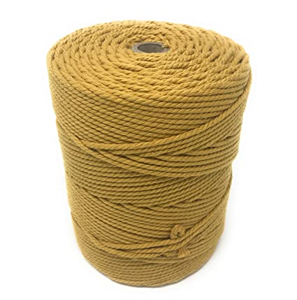 Artesanía macramé cable de cuerda 3mm mostaza 100% algodón carrete-Mobile  Winder 72839b3feb8
