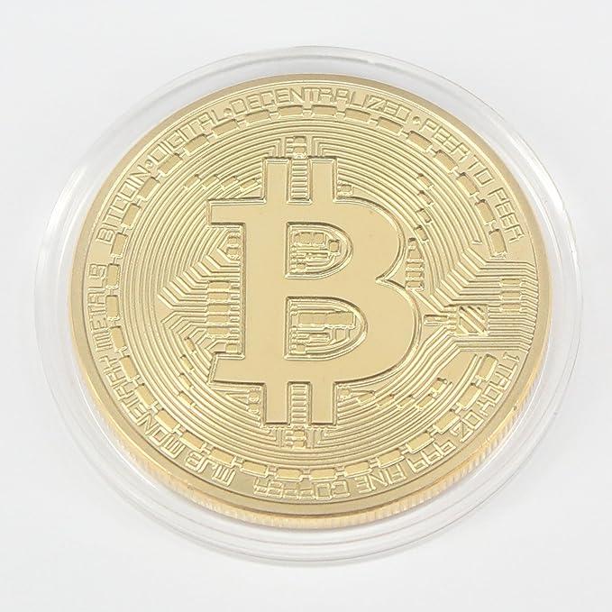 1 x Chapado en oro Bitcoin Coin coleccionable BTC moneda coleccion de arte regalo físico