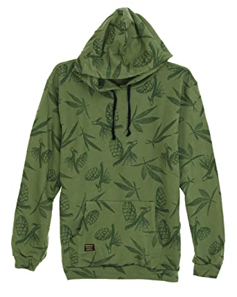 Diamond Supply Co Menu0027s Grizzly Garden Hoodie Sweatshirt Olive L