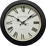 Premier Housewares Traditional Wall Clock - Black