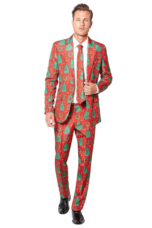 KULTFAKTOR GmbH Mr. Weihnachten - Suitmeister-Anzug - rot-grün M