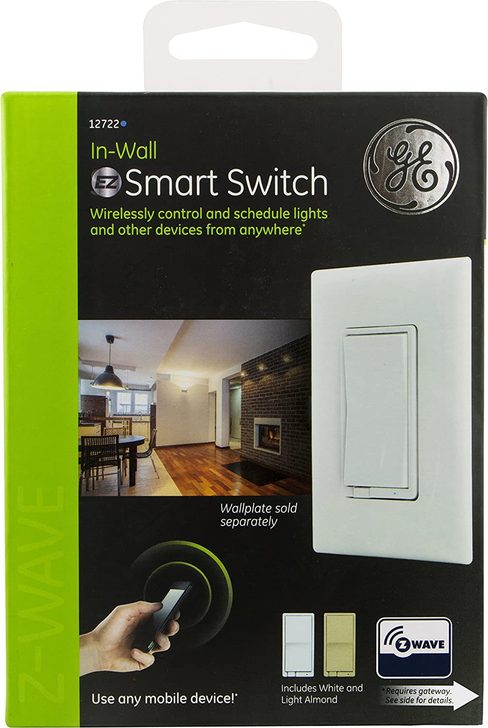 Ge Z Wave Wireless Smart Lighting Control Light Switch On Off You May Read About Intermediate What Is Paddle In Wall White Lt Almond Paddles Repeater Range Extender Zwave Hub Required