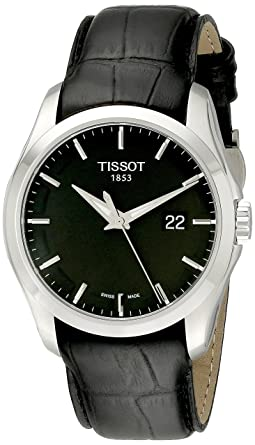 7111ee157e8 Image Unavailable. Image not available for. Color  Tissot Men s  T0354101605100 Couturier Black Dial Strap Watch