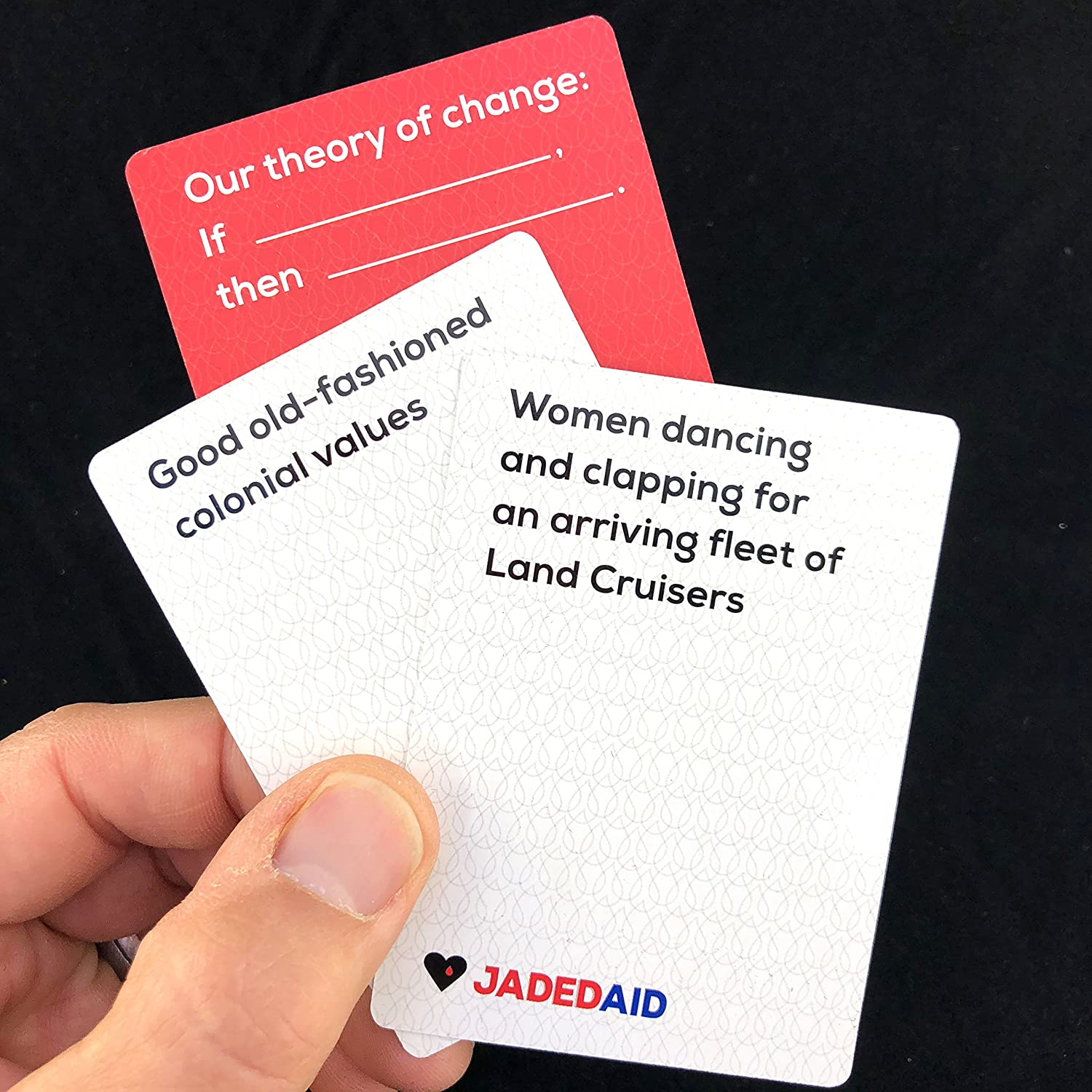 jadedaid a card game to save humanitarians toys games