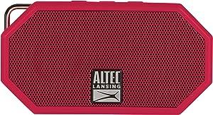 Altec Lansing IMW257-DR Mini H2O Wireless Bluetooth Waterproof Speaker, Floating IP67 Waterproof, Boat, Hiking, Golf Cart, ATV, Utv, Lightweight, 6-Hour Battery Life, Red, 2.25 x 1.00 x 4.13 inches