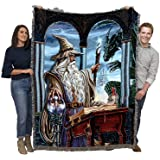 Wizard's Emissary - Ed Beard Jr - Cotton Woven Blanket Throw - Made in The USA (72x54)