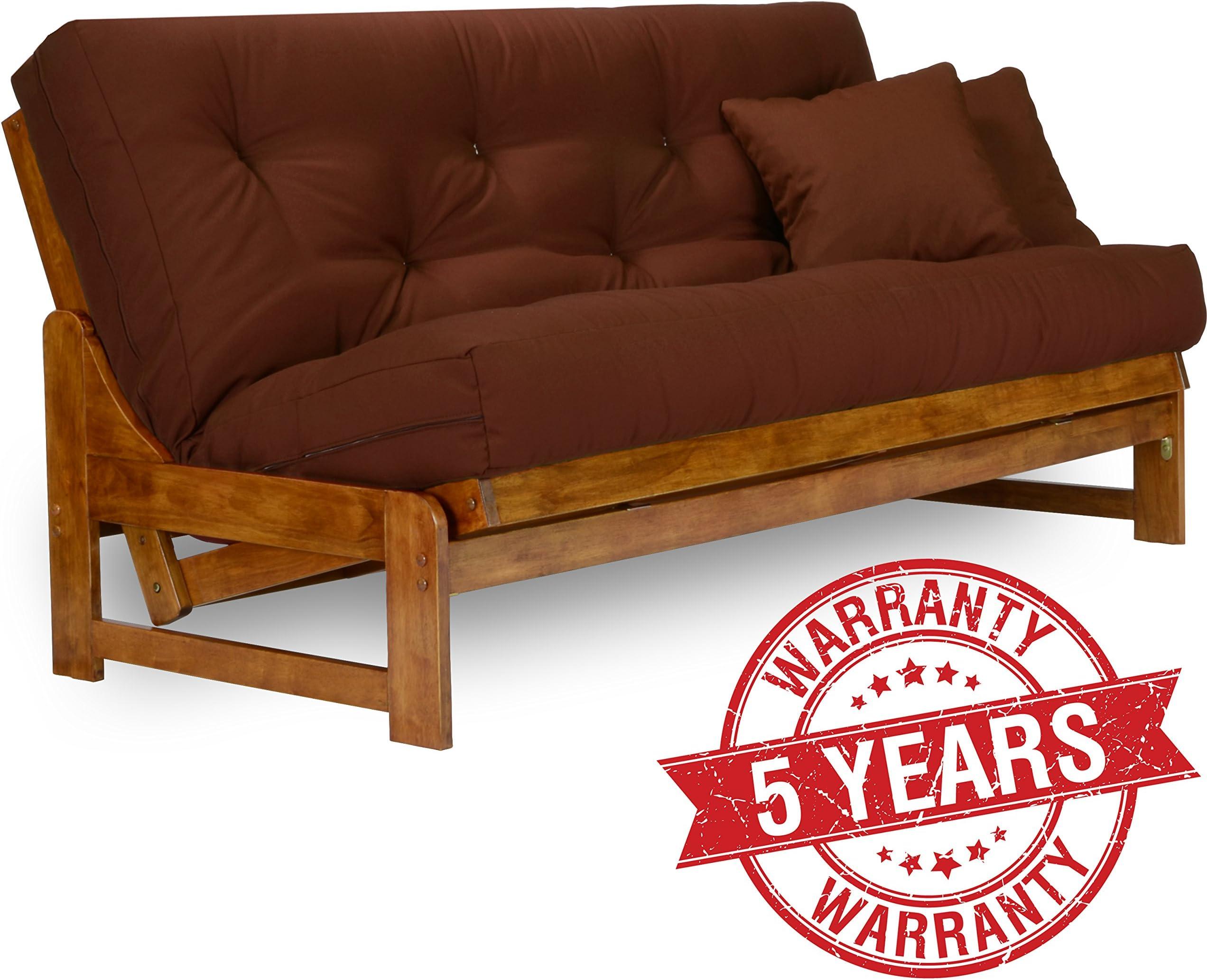 arden futon frame   queen size solid hardwood futons   amazon    rh   amazon