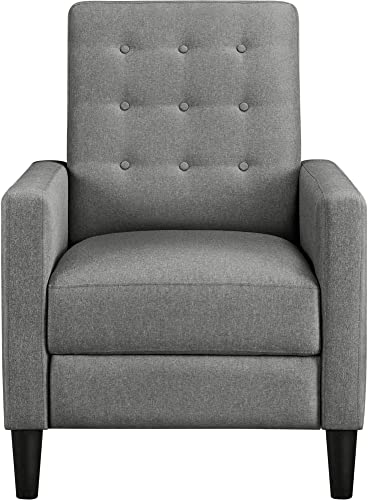 YAHEETECH Mid-Century Modern Fabric Recliner Adjustable Single Fabric Sofa