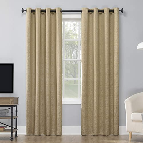Sun Zero 55839 Tenzin Medallion Jacquard Theater Grade Extreme 100 Blackout Grommet Curtain Panel
