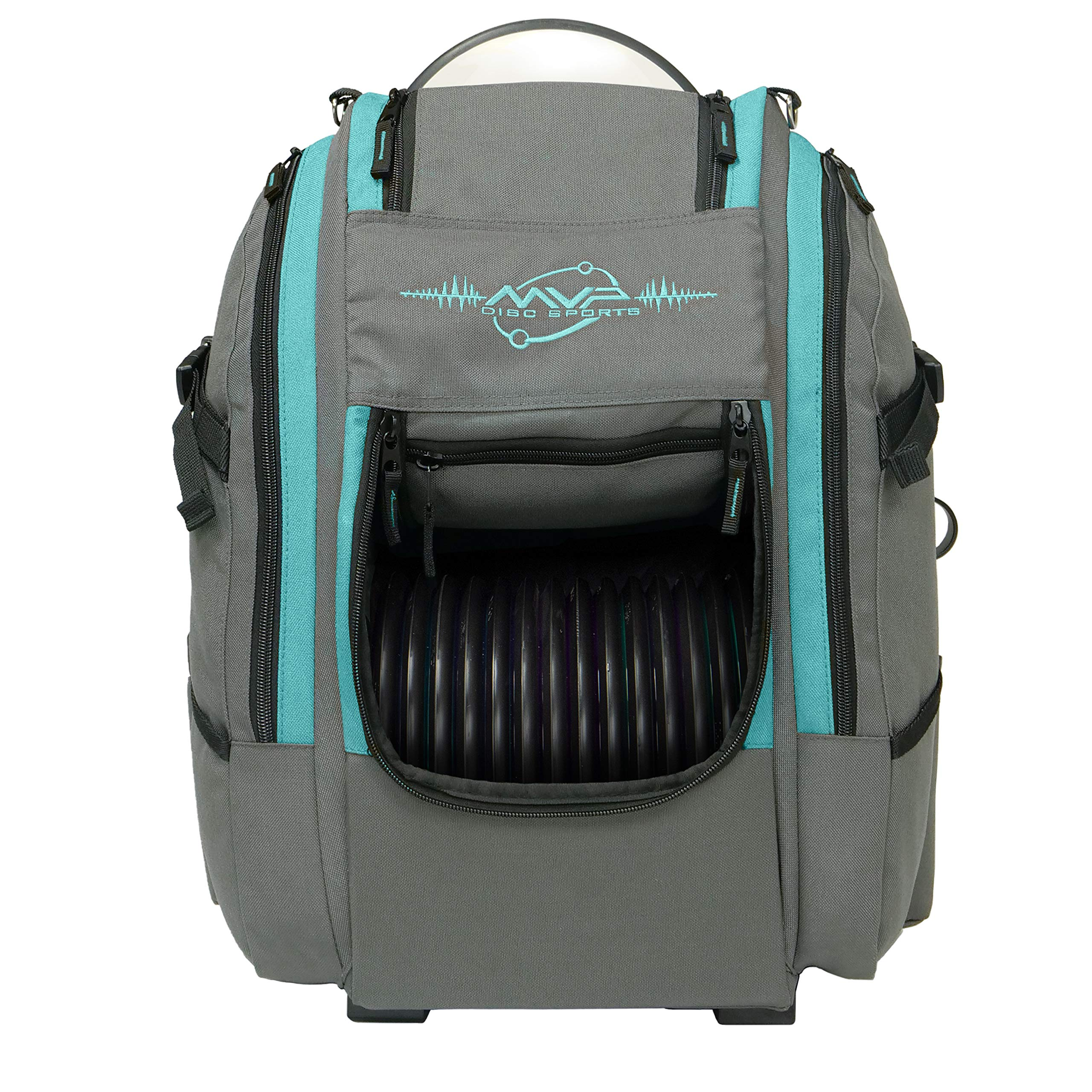 MVP Disc Sports Voyager Slim Bag (Gray/Aqua) by MVP Disc Sports