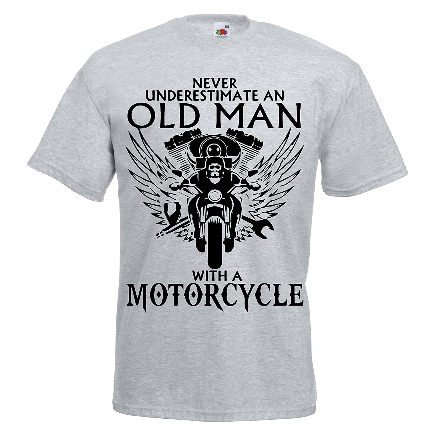 Never Underestimate an Old Man with a Motorcycle T shirt Biker on