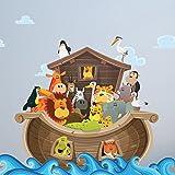 Large Noahu0027s Ark Childrenu0027s Wall Sticker   WDSET10056 B Part 92