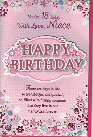 Niece 18th Birthday Card To A Special Happy 3 D Pop Out Butterfly Amazoncouk Garden Outdoors