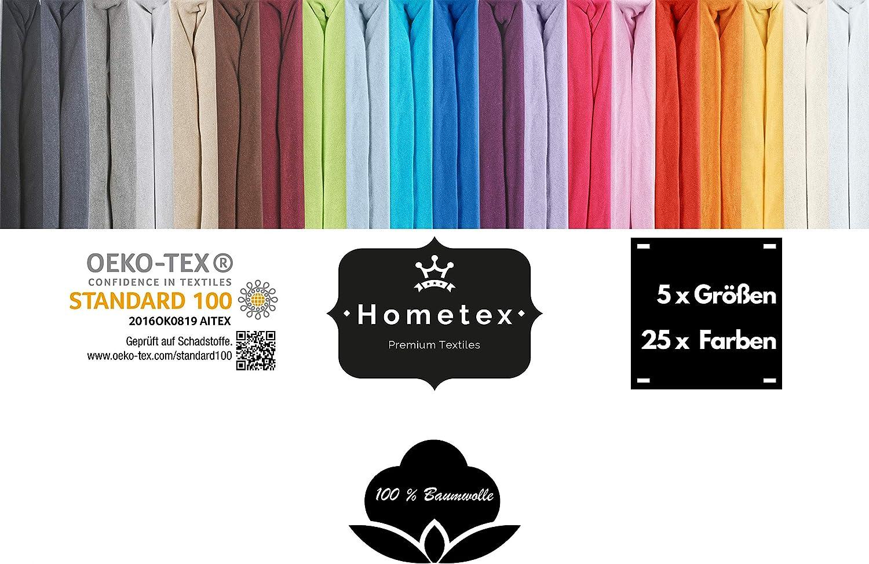S/ábana Bajera Ajustable de hasta 23 cm de Altura Turquesa 60-70x140 cm Hometex Premium Kinder /& Baby