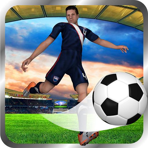 Soccer Flick Shoot 3D - Fantasy Football Game (Fifa 15 Game)
