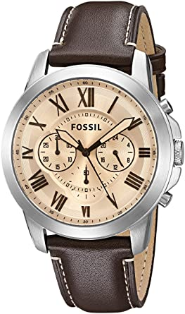 b9b70146bbe ... leather watch pricefossil men u0027s fs5150  amazon com fossil men u0027s  fs5152 grant chronograph dark brown leatherfossil men u0027s fs5152 ...
