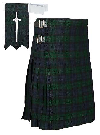 a96b92164 Amazon.com: Scottish Black Watch Tartan Kilt FREE Flashes & Kilt Pin ...