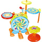 My First Drum Set, includes Sing Along Microphone and Chair, for a Complete Musical and Learning Sensation