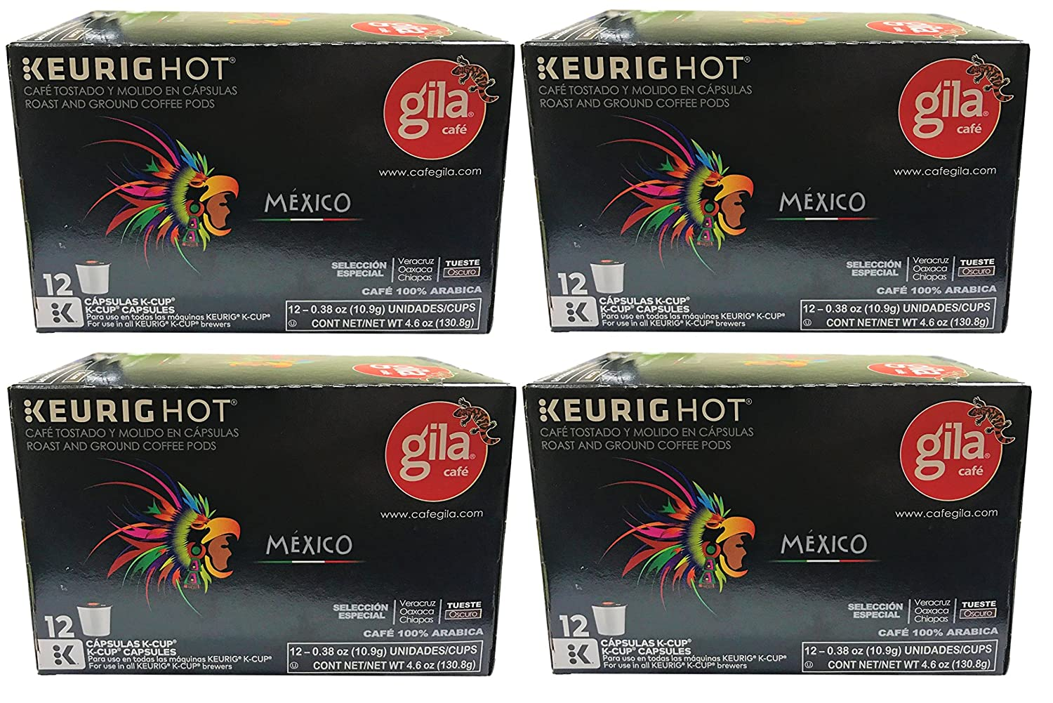 Café Gila Mexico Blend Coffee Single Serve Pods, 12 Count Box (48 Pods): Amazon.com: Grocery & Gourmet Food