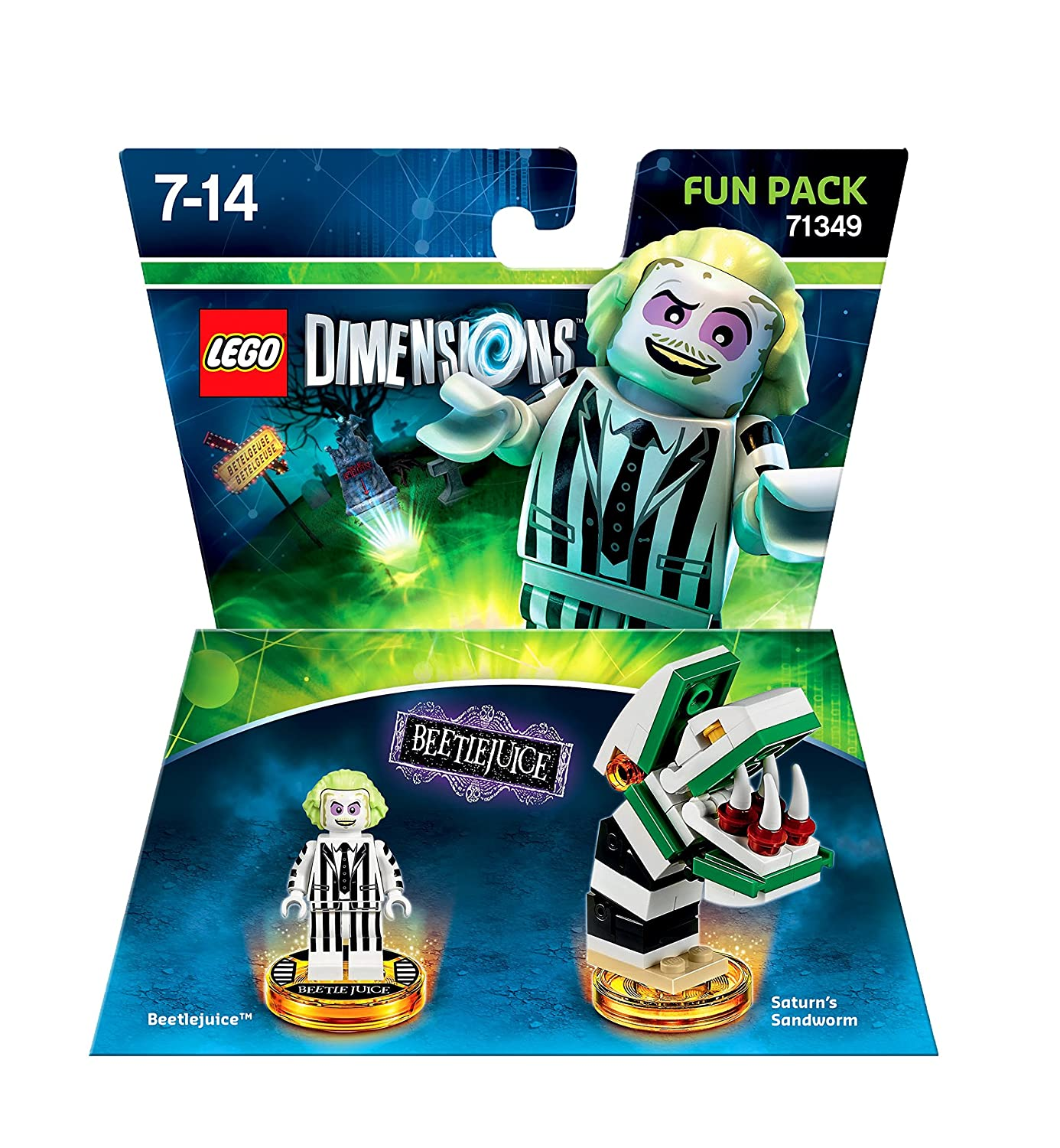 GENUINE LEGO BEETLEJUICE WORM BUILD ONLY from DIMENSIONS 71349 NO MINIFIGS//DISCS