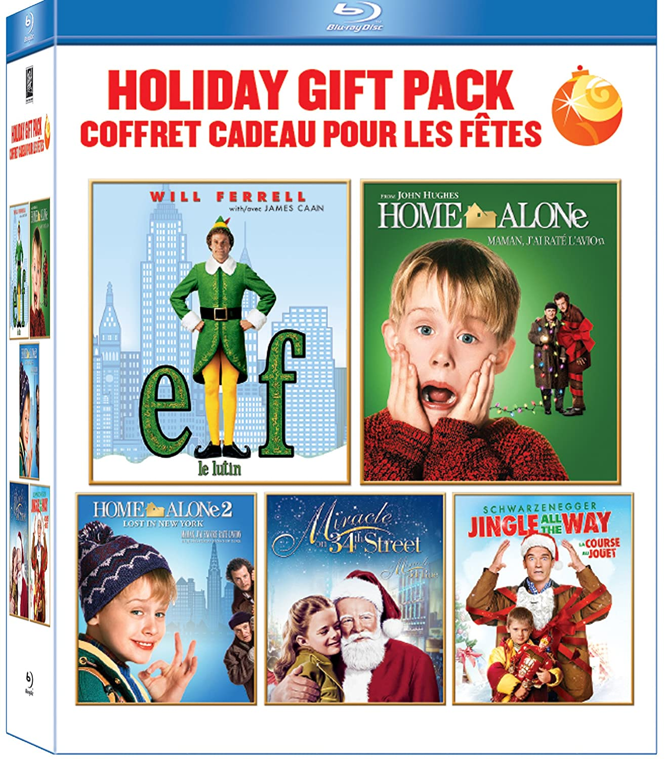 Amazon Canada 20 Holiday Gift Pack Blu Ray Home Alone 1 2 Elf