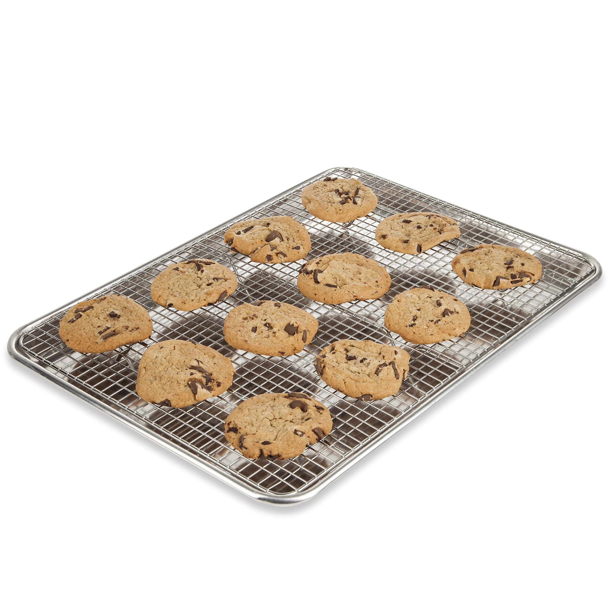 KITCHENATICS Baking Sheet with Cooling Rack: Half Aluminum Cookie Pan Tray with Stainless Steel Wire and Roasting Rack - 13.1'' x 17.9'', Heavy Duty Commercial Quality by KITCHENATICS (Image #10)