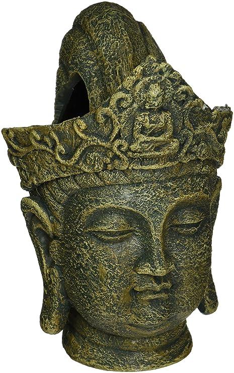 Penn-Plax - Figura decorativa para pecera, diseño de cabeza de Buda