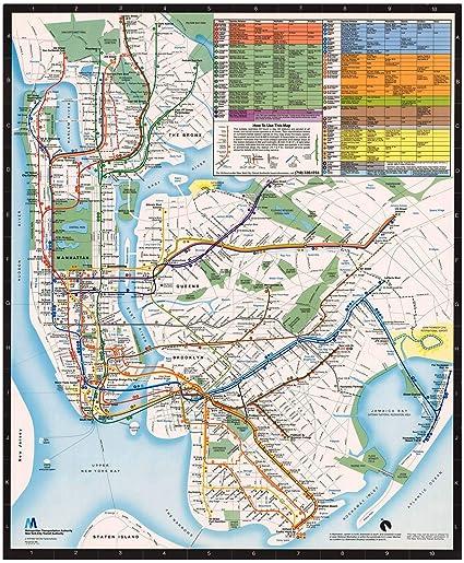 Vintage New York City Subway Map.Amazon Com Historic Pictoric Map New York City Transit Maps New