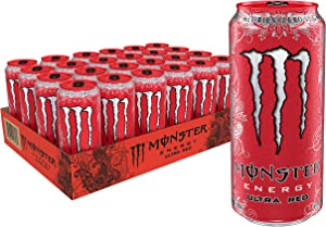 Ultra Red, Sugar Free Energy Drink, 16 Ounce (Pack of 24)