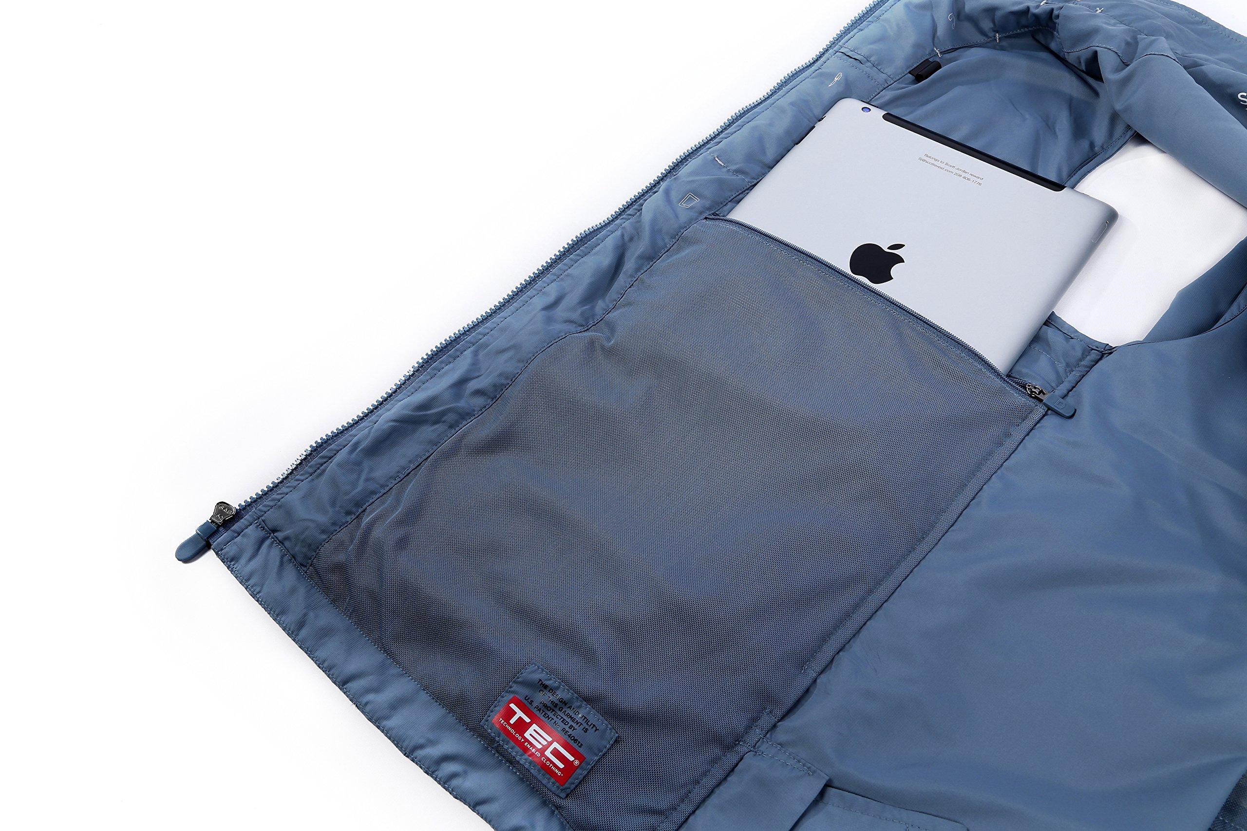 SCOTTeVEST Men's Featherweight Vest - 14 Pockets - Travel Clothing CMT L by SCOTTeVEST (Image #6)