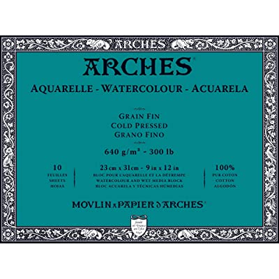 Unbekannt Arches 1795065 Bloc para Acuarelas, Madera, Color Blanco, 31 x 23 x 1 cm: Hogar