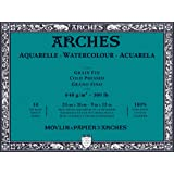 "Arches Water Colour Block, 300 lb / 640GSM, Cold Pressed, 9"" x 12"""