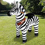 PonyCycle Official PonyCycle Ride On Zebra No Battery No Electricity Mechanical Zebra White & Black Small for Age 3-5
