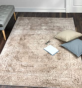 Santorini Collection Tapis Beige 120x170 Cm 4x6 Ft Amazon Fr