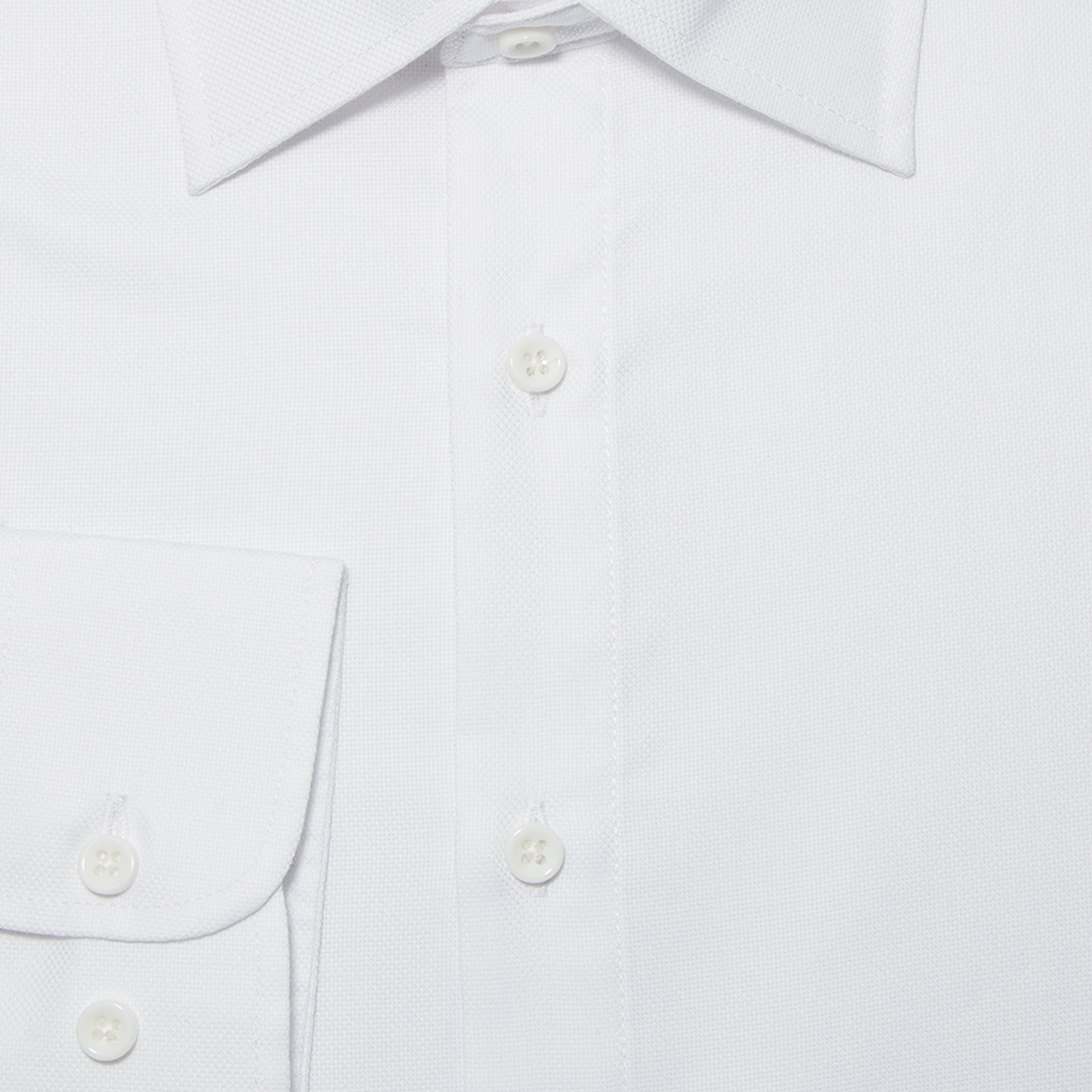Boot & Cod Men's Classic White Fitted Long Sleeve Button Down Dress Shirt - XXL by Boot & Cod (Image #2)