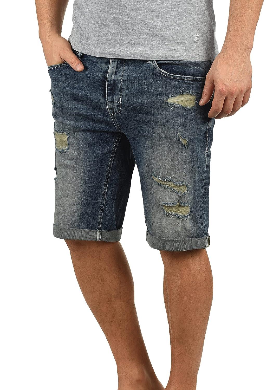 Blend Deniz Pantalón Corto Vaqueros para Hombre Elástico Regular-Fit
