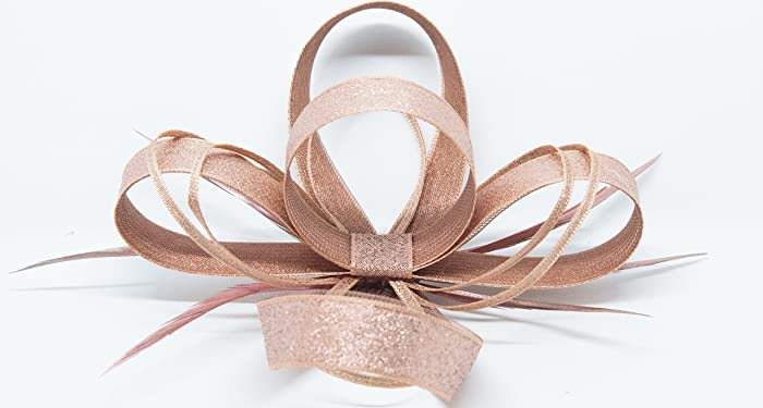 Image Unavailable. Image not available for. Colour  shimmering rose gold  fascinator ... 356fbdf4d32