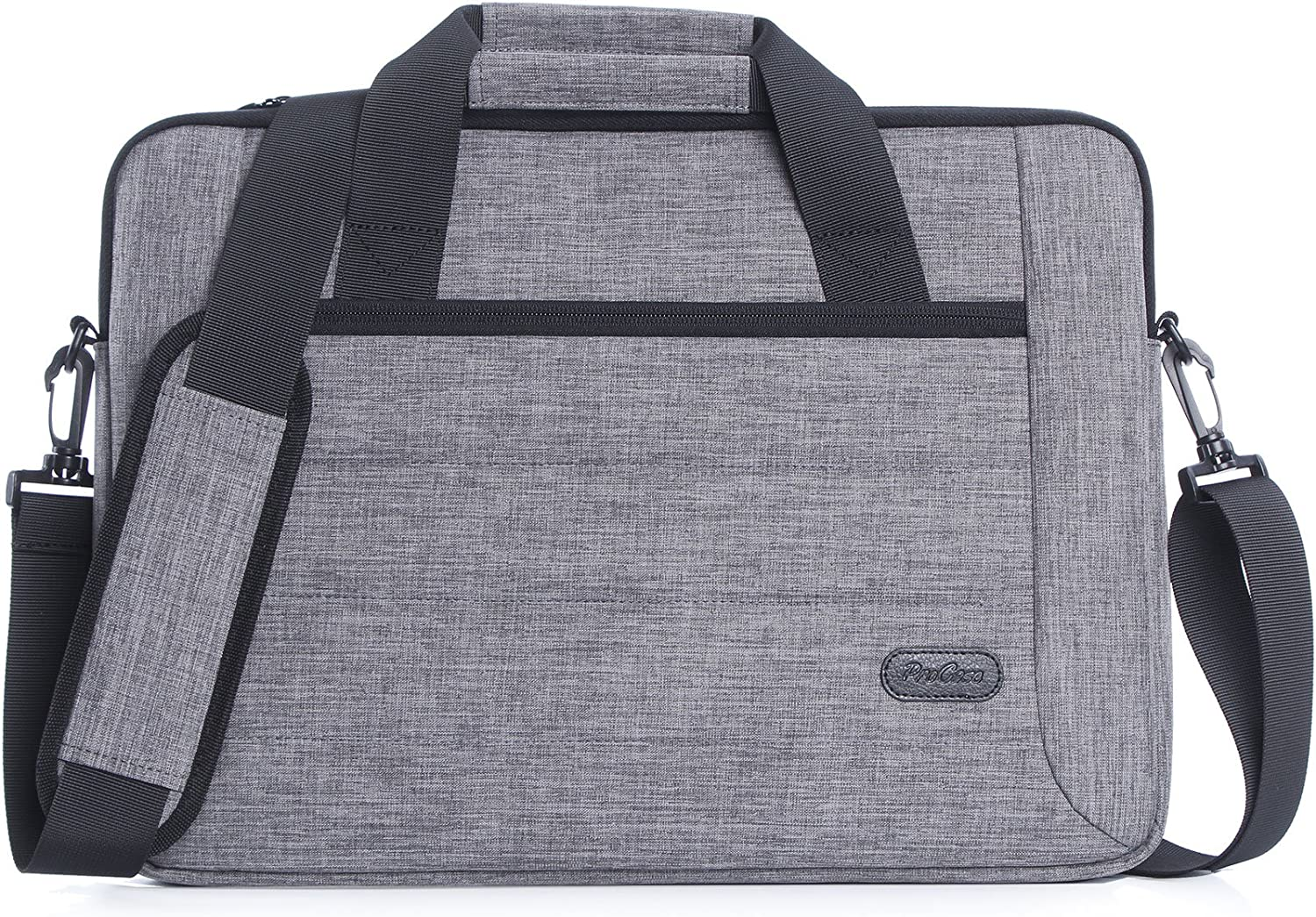 Procase 11-12.9 Inch Sleeve Case Bag Compatible for Tablet Laptop Ultrabook MacBook Chromebook Surface Pro X Notebook Acer Asus Dell HP Lenovo Galaxy with Handle Carrying Shoulder Strap -Grey