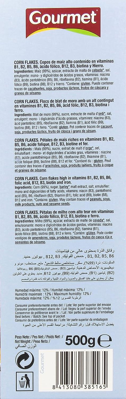 Gourmet Copos de Maíz con 8 Vitaminas y Hiero - 500 g: Amazon.es: Amazon Pantry