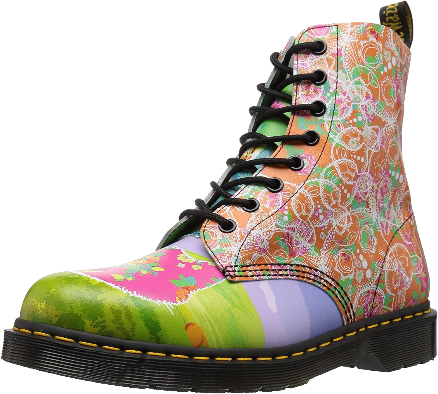 Dr. Martens Women's Pascal Daze in Backhand Leather Fashion Boot