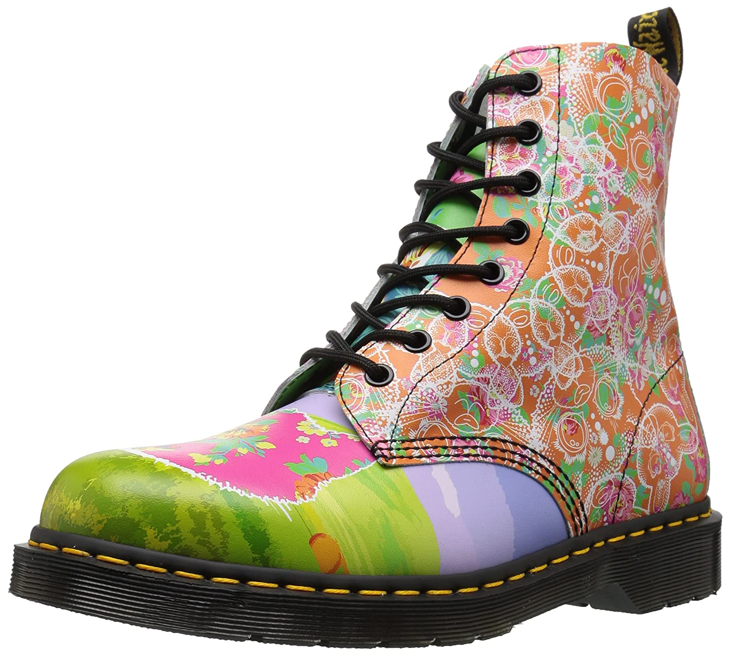 Dr. Martens Women's Pascal Daze in Backhand Leather Fashion Boot B01MU5QXHK 5 Medium UK (7 US)|Multi Daze