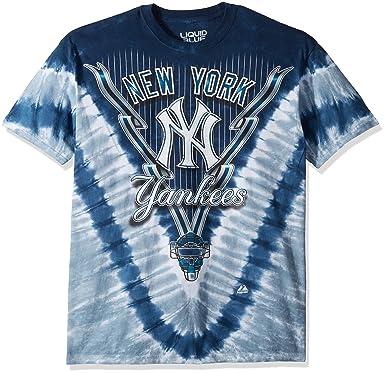 87219496230 Liquid Blue Men s Yankees V T-Shirt